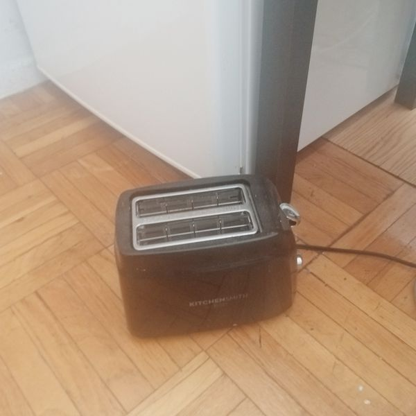 A black toaster