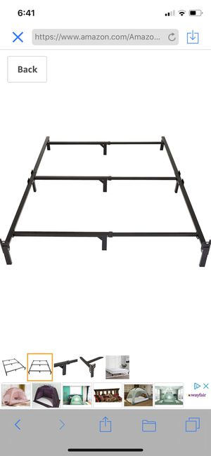 Amazon Basics 9-Leg Support Bed Frame - Strong Support for Box Spring Tool-Free Easy Assembly - King for Sale in Dallas, GA