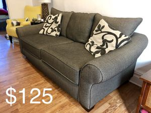 Dark Gray Sofa/ Couch with Rolled Arms - Great Condition for Sale in Brooklyn, NY