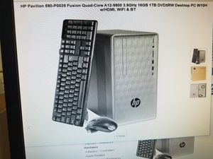 Hp PAVILION DESKTOP COMPUTER 16GIG RAM ICORE 5 WINDOWS 10 3.8GHZ KEYBOARD AND MOUSE INCLUDED 1 TB for Sale in Los Angeles, CA