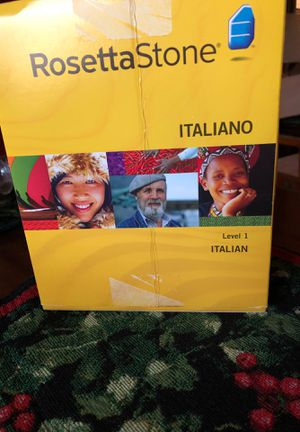 Rosetta Stone Italiano for Sale in Alexandria, VA