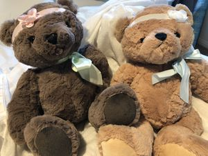 Brand new set of two soft teddy bears for Sale in Corona, CA