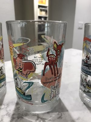 Collectable Disney glasses from Mcdonalds for Sale in Orlando, FL