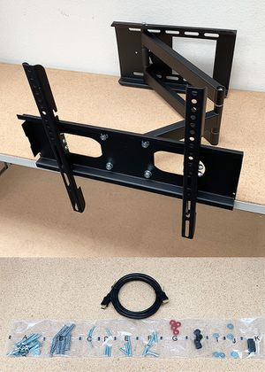 "(NEW) $33 HDMI and Full Motion TV Wall Mount Combo 23""-50"" Swivel Tilt for Sale in Whittier, CA"