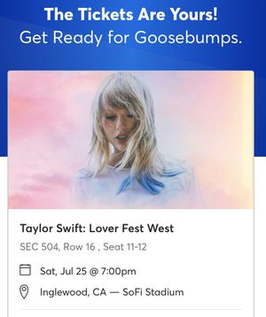 Taylor Swift Tickets! Saturday, July, 25, 2020 for Sale in Reedley, CA