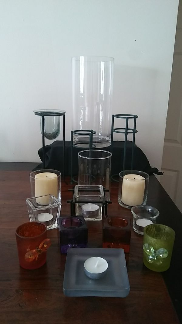 Assortment of candle holders