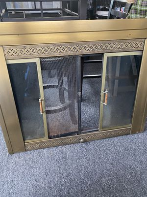 Fire place screen and glass doors for Sale in Middleborough, MA