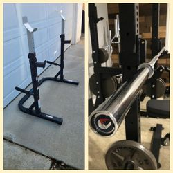 Brand NEW: Squat/Bench Press Rack + Olympic Barbell for Sale in Poway,  CA