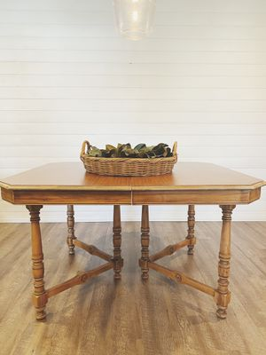 Antique slide table and 4 chairs refinished for Sale in Kingsburg, CA