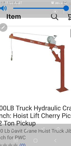 1000 lbs truck Hydraulic Crane And winch picker for Sale in Chicago, IL