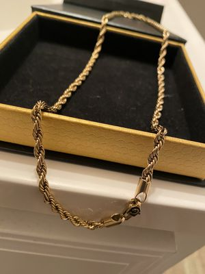 Gld Rope Chain Gold Plated for Sale in Palo Alto, CA