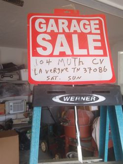 Ladder Werner 6 Ft Open Sat And Sun for Sale in La Vergne,  TN