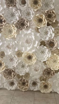 Wedding backdrop paper flowers Custom Handmade beautiful for Sale in Moreno Valley,  CA