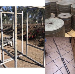 COMMERCIAL IVANKO SQUAT WEIGHT RACK CAGE PLUS MORE for Sale in San Diego, CA