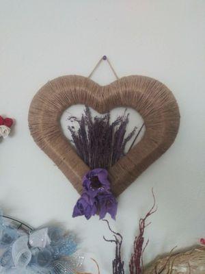 Handmade lavender heart wreath for Sale in Salt Lake City, UT