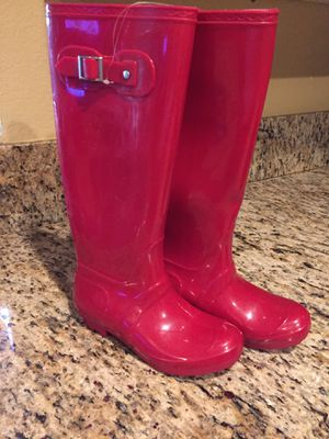 Red rain boots size 71/2 (new) for Sale in Eastvale, CA