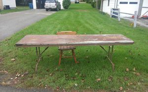 Work table 6ft by3ft all metal frame and it's free come and get it for Sale in Portage, MI