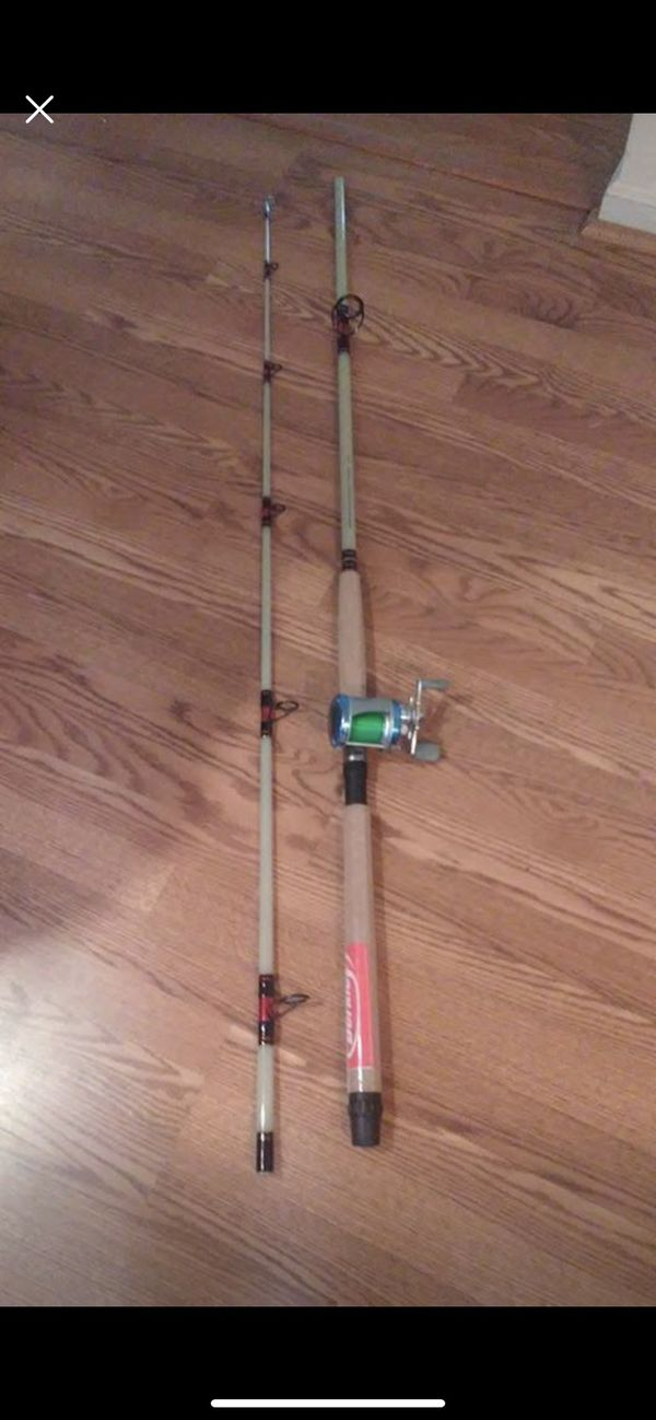 Fishing rod And Reel (Combo) glow stick 8 feet medium heavy 10-30 $70 obo
