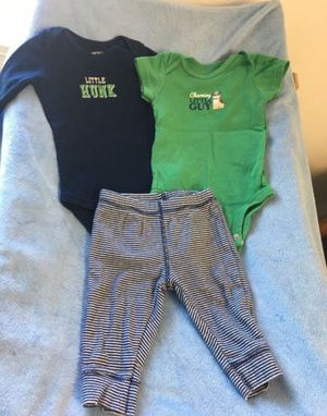 Baby boy set (3pcs)👶🏼👕👖 for Sale in Lake Forest, CA