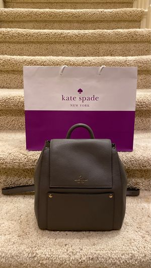 Kate Spade All Leather Grey Backpack. New With Tag $459 for Sale in San Diego, CA