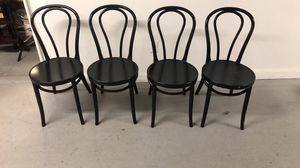 4 black chairs for Sale in Allentown, PA