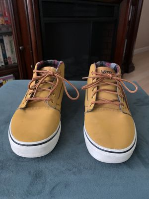 Vans Chapman Mid Boy (Waxed) Oak Buff/Black Size 7Y for Sale in Roseville, CA