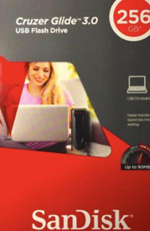 SanDisk Cruzer Glide 256 GB USB 3.0 Flash Drive, New for Sale in Lake Ridge, VA
