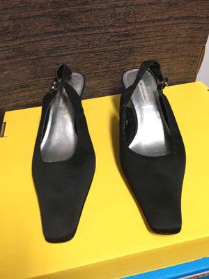 Elegant Silk-like Sling Back Low Heels with Bling by Anne Klein for Sale in Las Vegas, NV