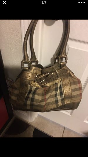 Burberry handbag gold and shimmer prorsum for Sale in Modesto, CA
