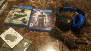 Ps4 games , headset, hardrive 2tb for Sale in Columbus, OH