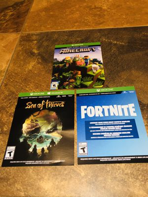 Mine craft, Fortnite, sea of thieves Xbox for Sale in Glendale, AZ