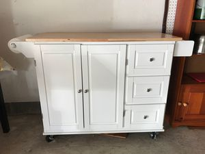 Kitchen cart with extended top brand new just installed looking forward to seeing you need go ASAP for Sale in Columbus, OH