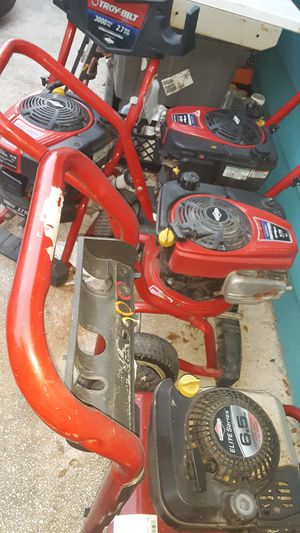 4 Troy-Bilt pressure washers for Sale in San Antonio, TX