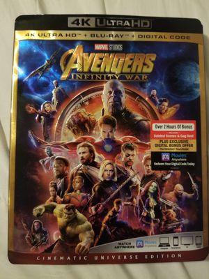 4k Avengers infinity war for Sale in Stockton, CA