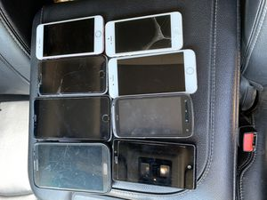 Lot of 8 phones iPhone galaxy htc Sony iPhone 5 6 7 for Sale in Kent, WA