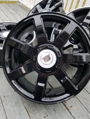 "22"" cadillac escalade black stock wheels rims for Sale in Bolingbrook, IL"