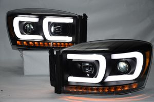 06-08 Dodge Ram led black / projector headlights for Sale in Los Angeles, CA