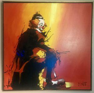 """RINGSIDE SEAT"" PAINTING by EMMET KELLY for Sale in Wichita, KS"