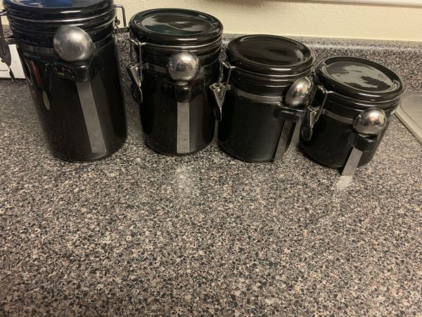 Black canister set (4)