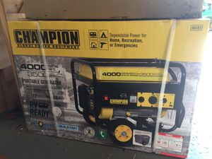 Champion portable generator 3500 watts rv ready for Sale in Lanesville, IN
