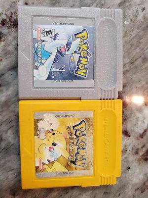 Pokemon yellow and silver for Sale in Houston, TX