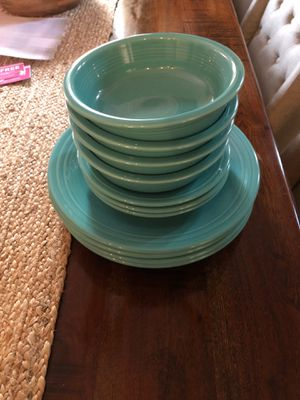 Fiesta plate sets of 4 for Sale in Millville, NJ