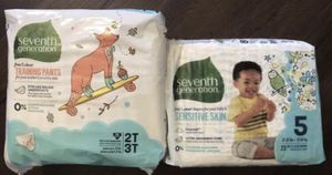 New diapers 25$ for all + 30 Extra diapers and training pants other brands for free for Sale in Denver, CO