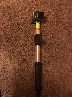 Go pro hero with float selfie stick for Sale in San Diego, CA