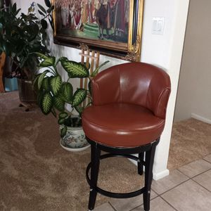 """Pier 1 Brown Leather Stool 25"""" From Floor To top Of Seat for Sale in Albuquerque, NM"""