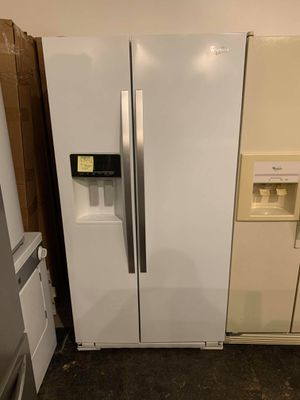 Used excellent condition Whirlpool side by side refrigerator no ice maker or water for Sale in Halethorpe, MD
