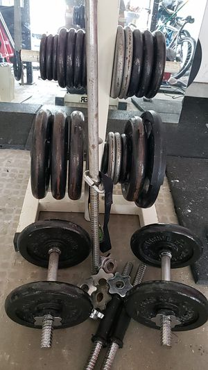 Dumbell curl bar set for Sale in Virginia Beach, VA