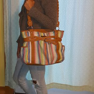 Used striped purse for Sale in Waitsfield, VT