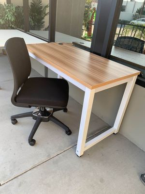 NEW HON Armeless Computer Chair and 48x24x30 Inches Tall Office Computer Laminate Waterproof Table Desk 6 Colors to Choose From for Sale in Los Angeles, CA