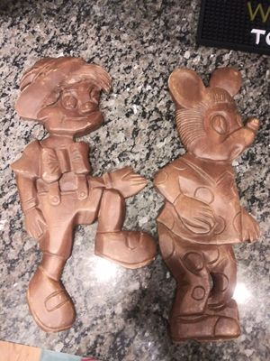 "Mickey Mouse / Pinocchio wood figures 18"" tall for Sale in Montgomery Village, MD"